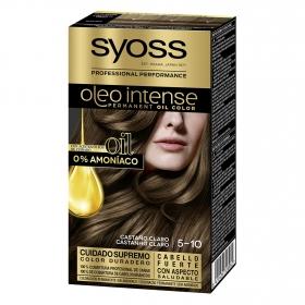 Tinte sin amoníaco oleo intense 5-10 castaño claro SYOSS 1 ud.