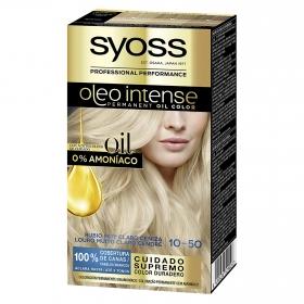 Tinte sin amoníaco oleo intense 10-50 rubio claro ceniza SYOSS 1 ud.
