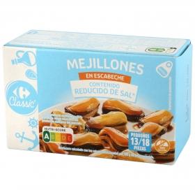 Mejillones de las rías gallegas en escabeche Carrefour sin gluten 69 g.