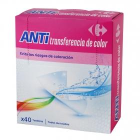 Toallitas anti transferencia del color Carrefour 40 ud.