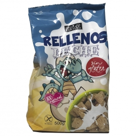 Cereales rellenos de leche Ceridés sin gluten 500 g.