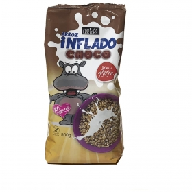 Cereales de arroz inflado con chocolate Ceridés sin gluten 500 g.