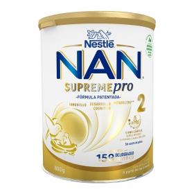 Leche infantil de continuación desde 6 meses Nan Supreme 2 lata 800 g.