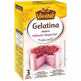 Gelatina neutra en polvo Vahiné 18 g.