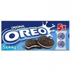 Galletas de chocolate rellenas de crema Oreo 220 g.