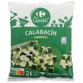 Calabacín en dados congelado Carrefour 450 g.