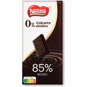 Tableta de chocolate negro 85% sin azúcares añadidos Nestlé 125 g.