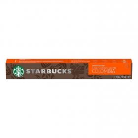 Café espresso Colombia en cápsulas Starbucks compatible con Nespresso 10 unidades de 5,7 g.