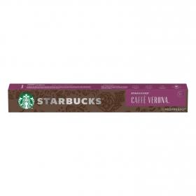 Café espresso verona en cápsulas Starbucks compatible con Nespresso 10 unidades de 5,5 g.