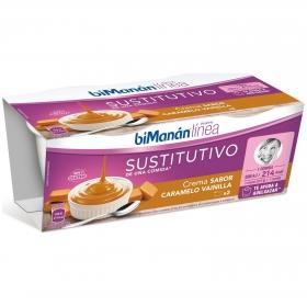 Crema de Vainilla y Caramelo Dietética Bimanán 455 g.