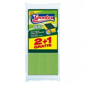 3 Estropajo salvauñas Duo SPONTEX  - Verde