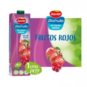Zumo de frutos rojos Juver Exótico sin azúcar añadido añadido brik 1 l.