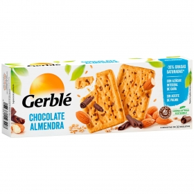 Galletas de chocolate y almendra Gerblé 229 g.