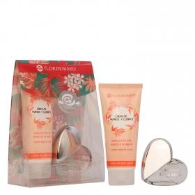 Set Cristal Living Coral Flor de Mayo: Eau de Parfum 20ml y crema de manos y cuerpo 100ml