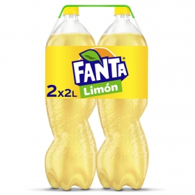 Refresco de limón Fanta con gas pack de 2 botellas de 2 l.