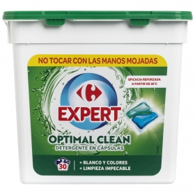 Detergente en cápsulas Expert Carrefour 30 ud.