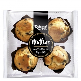 Muffins con pepitas de chocolate DulceSol 300 g.