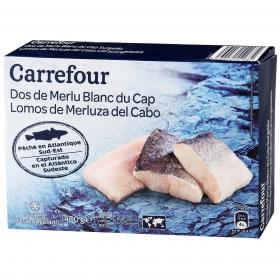 Lomos merluza con piel Carrefour 400 g.