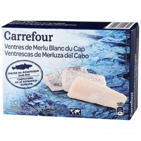 Ventrescas merluza con piel Carrefour 400 g.