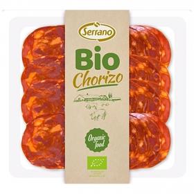 Chorizo extra ecológico en lonchas Serrano sin gluten 80 g