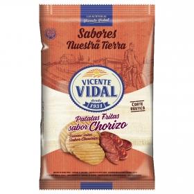 Patatas fritas rústicas sabor chorizo Vidal 135 g.