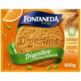 Galletas con soja y naranja Digestive Fontaneda 600 g.