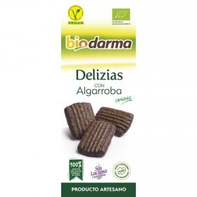 Galletas de algarroba ecológicas Bio Darma sin lactosa 110 g.