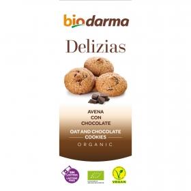 Galletas de avena con chocolate ecológicas Delizias Bio Darma 110 g.