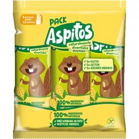 Aperitivo de maíz horneado Aspitos pack de 6 unidades de 36 g.