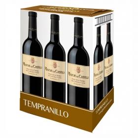 Vino tinto Tempranillo de la tierra de Castilla y León Mayor de Castilla pack de 6 botellas de 75 cl.