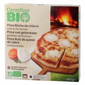 Pizza rulo de queso de cabra ecológica Carrefour Bio 360 g.