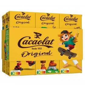 Batido de cacao Cacaolat pack de 6 briks de 200 ml.