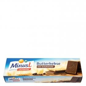 Galletas de mantequilla y chocolate MinusL sin lactosa 125 g.