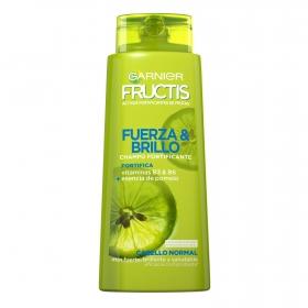 Champú fortificante fuerza y brillo para cabello normal Ganier Fructis 690 ml.