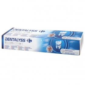 Dentífrico Expert 10 en 1 Carrefour 75 ml.