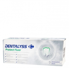 Dentífrico protect fluor Dentalyss pack de 2 unidades de 75 ml.