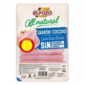Jamón Cocido Artesano en lonchas El Pozo All Natural sin gluten y sin lactosa 90 g.
