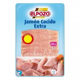 Jamón cocido lonchas finas El Pozo sin gluten 90 g.