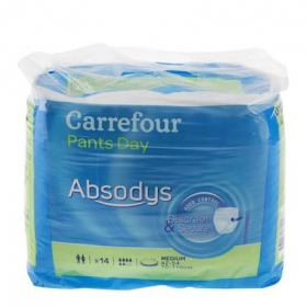 Pañales Pants Day medianos Absodys Carrefour 14 ud.