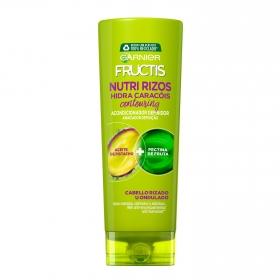 Acondicionador fortilizante nutre & define aceite de pistacho para cabello rizado u ondulado Ganier Fructis 300 ml.