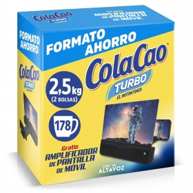 Cacao soluble Cola Cao Turbo 2,75 Kg + mouse gamer
