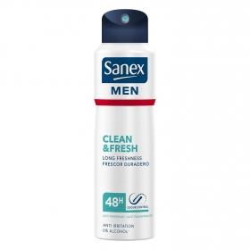 Desodorante en spray Clean&Fresh Sanex 200 ml.