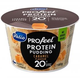 Natilla de caramelo alta en proteínas Valio 180 g.
