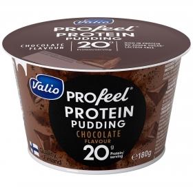 Natilla de chocolate alta en proteínas Valio 180 g.
