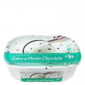 Helado de menta y chocolate Carrefour 1000 ml.