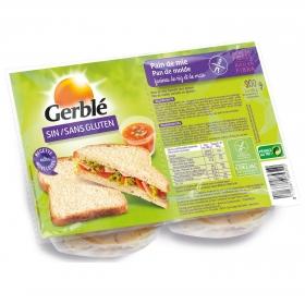 Pan de molde Gerblé sin gluten 300 g.
