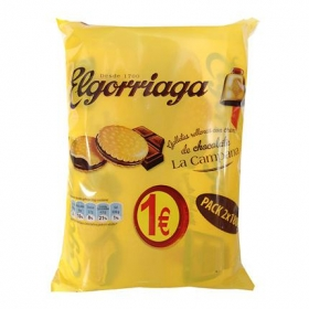 Galletas rellenas de crema chocolate La Campana Elgorriaga 360 g.