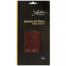 Jamón de pato en lonchas Carrefour Selección sin gluten 100 g.