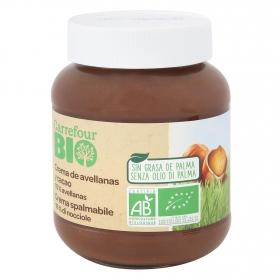 Crema de avellanas y cacao sin aceite de palma ecológica Carrefour 350 g.