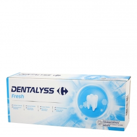 Dentífrico Fresh Dentalyss pack de 2 unidades de 75 ml.